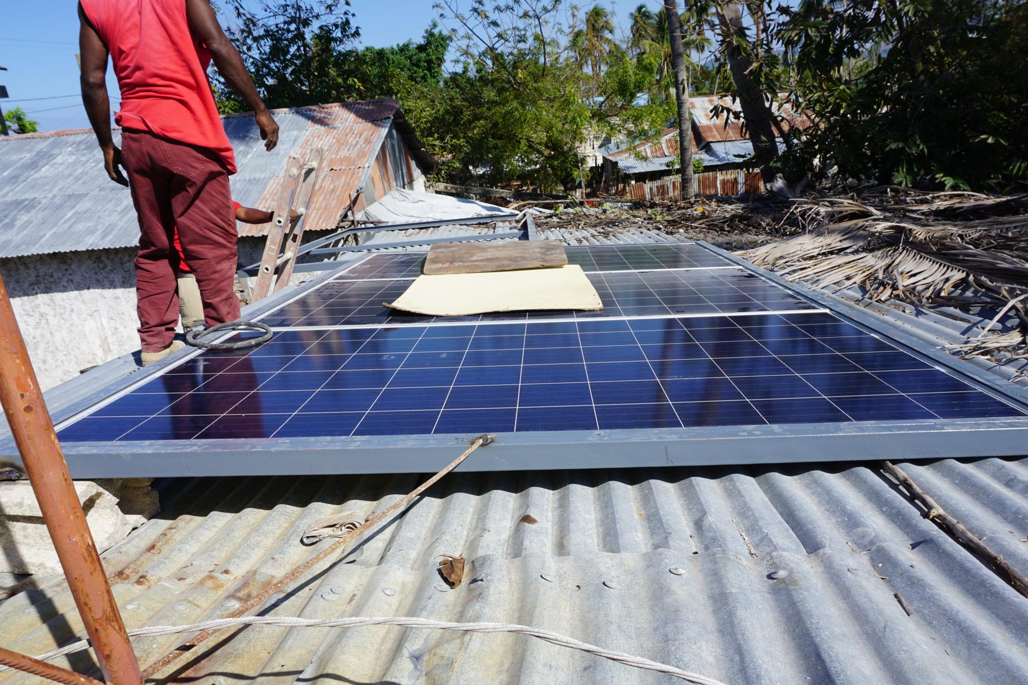 Sustainability of operations increasingly becomes a priority for the ETC – the radio stations will be powered by solar panels, to ensure energy efficiency. Photo: WFP  / Christopher Alagna
