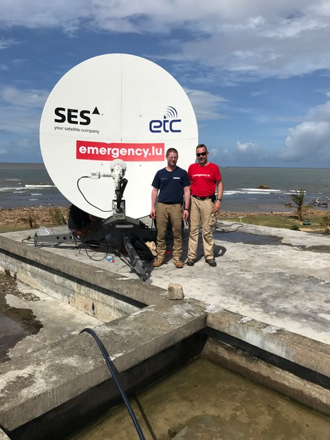 ETC members work together in Madagascar to provide Internet connectivity in the most affected locations. Photo: Government of Luxembourg