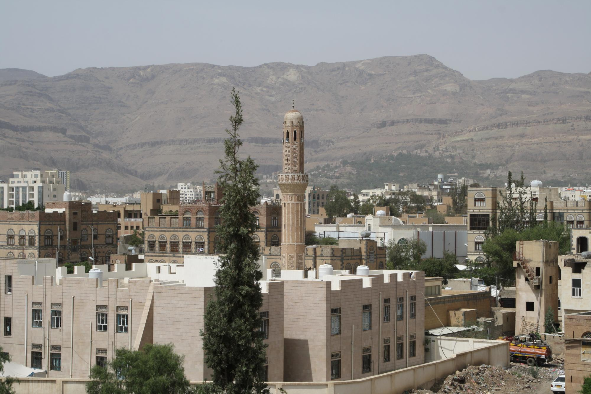 View of Sana'a from ETC NGO hub