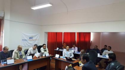 The ETC organised a workshop with partners on the ground in Sana'a to ensure their needs are included on the ETC workplan for 2018.