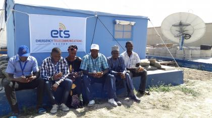 Humanitarians using ETS services in Dikwa