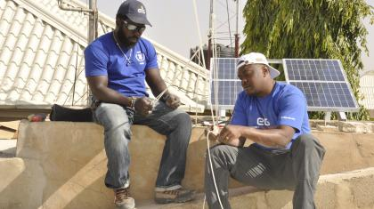 Specialists from the ETS deploying the inter-agency security telecommunications network in Damaturu