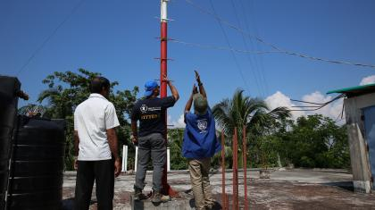 The ETS assessing the existing security telecommunications infrastructure and services in Cox's Bazar.