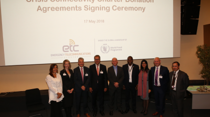 Crisis Connectivity Charter Donation Agreements signed in Luxembourg