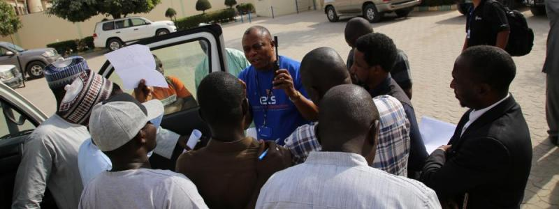 The ETS delivers radio training to the humanitarian community in Maiduguri