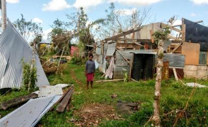 Devastation left by Cyclone Harold on Santo Island, Vanuatu. Photo: Gordon Alick/Save the Children