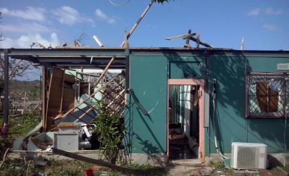 Cyclone Pam-induced damage to a house in Port Vila, Vanuatu. Photo: WFP